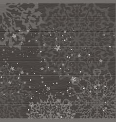 christmas dark wooden background vector image vector image