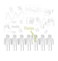 Forex training exchange trading vector image vector image