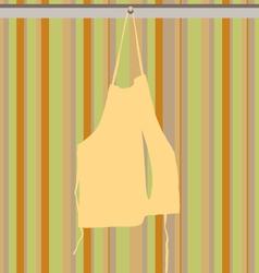 Hanging apron vector