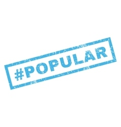 Hashtag Popular Rubber Stamp vector image