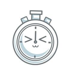 Kawaii stopwatch clock competition timer vector