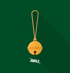 Merry christmas small bell flat design vector