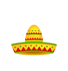 Mexican Hat Sombrero Isolated on White Background vector image vector image