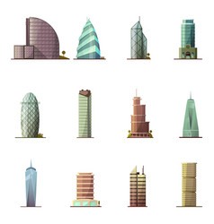 Office buildings historical and modern world most vector
