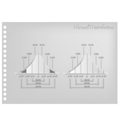 Paper art of standard deviation diagram graph vector