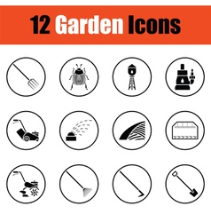 Set of gardening icons vector image vector image