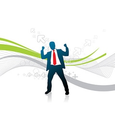 Silhouetted businessman vector