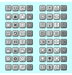 Stone game icons buttons icons interface ui vector