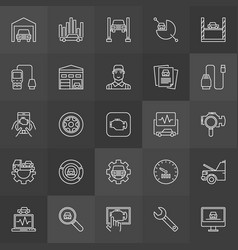 Vehicle diagnostics icons vector