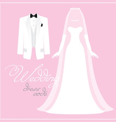 Wedding bridal dress vector