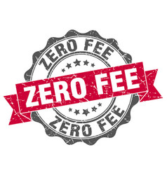 Zero fee stamp sign seal vector