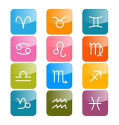 Zodiac Horoscope Rectangle Colorful Symbols vector image vector image