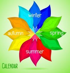 Abstract calendar vector