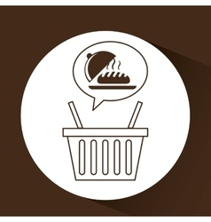 Hot bread basket vector