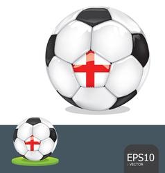 soccer ball england vector image