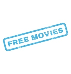 Free movies rubber stamp vector