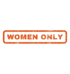 Women only rubber stamp vector