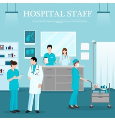 Medical staff template vector