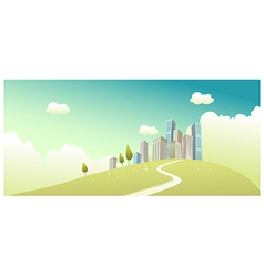 Path towards city vector