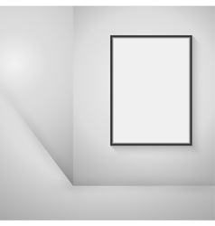 Empty black frame hanging on the wall vector image