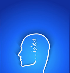 Idea concept paper human face with shadow effect vector