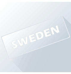 Sweden unique button vector