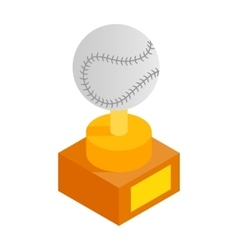 Baseball trophy isometric 3d icon vector