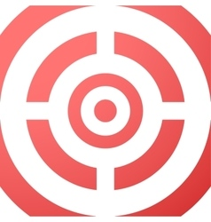 Target closeup red background vector