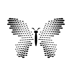 Butterfly with dot wings icon simple style vector