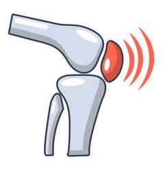 Arthritis of knee icon cartoon style vector