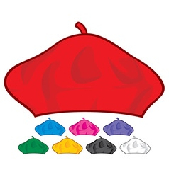 beret collection vector image vector image