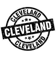 Cleveland black round grunge stamp vector