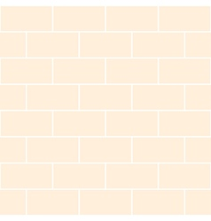 Cream brick wall vector