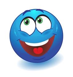 Dreamy smiley vector image vector image