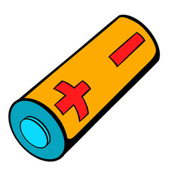 Electronic cigarette battery icon cartoon vector