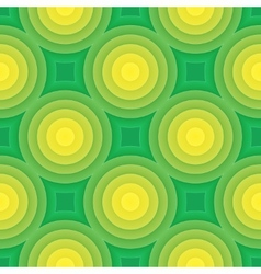 Green circle seamless pattern vector image