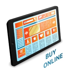 Internet shopping tablet vector image vector image