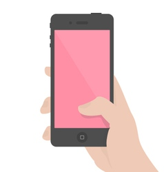 iPhone-in-hand vector image vector image
