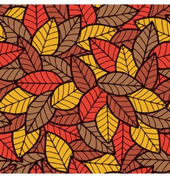 Leafs Seamless Pattern Autumn vector image vector image
