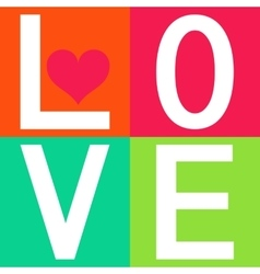 Love typography t-shirt graphics vector image vector image