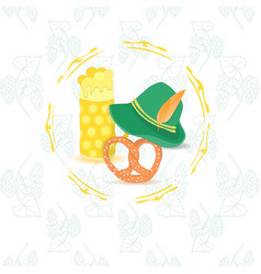 oktoberfest leaflet with no text vector image