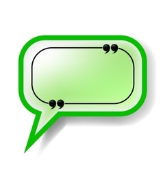 Paper Green Speech Bubble vector image vector image