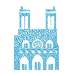 Paris city design vector