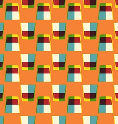 Pop art whiskey glass seamless pattern vector