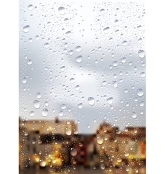 Raindrops trough window vector