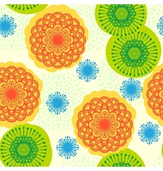 Seamless floral pattern in bright colors vector