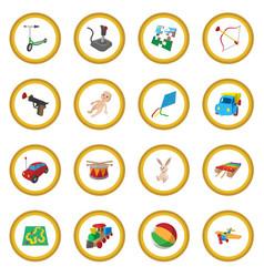 Toys cartoon icon circle vector