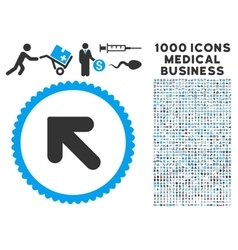 Arrow up left icon with 1000 medical business vector