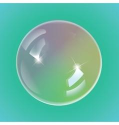 Rainbow soap bubbles vector image