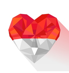 Crystal gem jewelry heart of the principality of vector